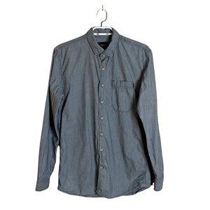 Frank & Oak Men's Denim Striped Button Down Shirt